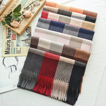 Luxury Brand Men Winter Cashmere Plaid Scarf Women Big Lattice Shawls Blanket Tassel Scarves Man Business Pashmina Foulard woman winter wool scarf blanket plaid oversize wraps with tassel ladies soft warm pashmina foulard femme big blanket scarves