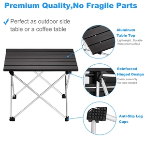 Image 4 - Portable Folding Camping Table Aluminum Desk Table Top Suitable for Outdoor Picnic Barbecue Cooking Holiday Beach Hiking Traveli