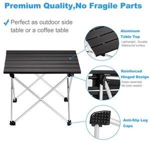 Image 4 - Tragbare Folding Camping Tisch Aluminium Schreibtisch Tisch Top Geeignet für Outdoor Picknick Grill Kochen Urlaub Strand Wandern Traveli