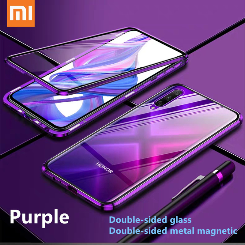 Double Sided Glass <font><b>Metal</b></font> Magnetic <font><b>Case</b></font> For Xiaomi <font><b>Redmi</b></font> Note 9s 8 7 <font><b>K20</b></font> K30 Pro 8 8A Mi 9T 10 Pro 360 Full Protection Flip Cover image