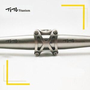 Image 4 - משלוח חינם של MTB טיטניום אופני כידון שטוח כידון 31.8 או 25.4*600/620/640/660 /680/700/720mm עיצוב מותאם אישית לוגו