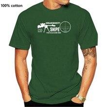 Maglietta sniper cecchino headshot PERSONALIZZATA con nome clan o tuo nome mmo fps