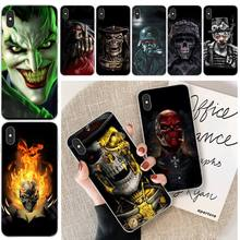 Ruthless Skeleton DIY Printing Phone Case cover Shell For iphone 6 6s plus 7 8 plus X XS XR XS MAX 11 11 pro 11 Pro Max Cover ruthless