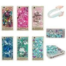Glitter Phone Case For Xiaomi Redmi 4A 5A 4X Bling Dynamic Liquid Quicksand Soft TPU Back Cover For redmi 5 plus Note 4X coque(China)