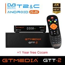 GTMEDIA GTT2 DVB-T2/C android 2g+8g 1080p iptv android 6.0 android dvb-t2 signal freesat gtt h.265 Built-in Wifi 2.4G cccam m3u android