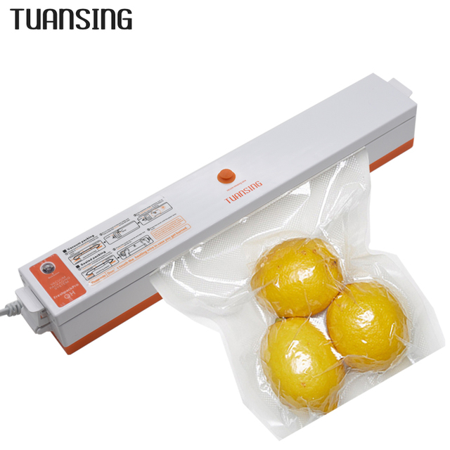 Máquina seladora de alimentos a vácuo, 220v/110v máquina de selo a vácuo seladora de filme para comida inclui 15 peças empacotador