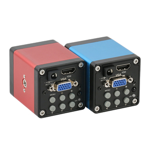 Image 4 - 14MP 1080P דיגיטלי וידאו HDMI VGA מיקרוסקופ מצלמה + 100X/180X/300X C הר עדשה עבור PCB הלחמה תיקון