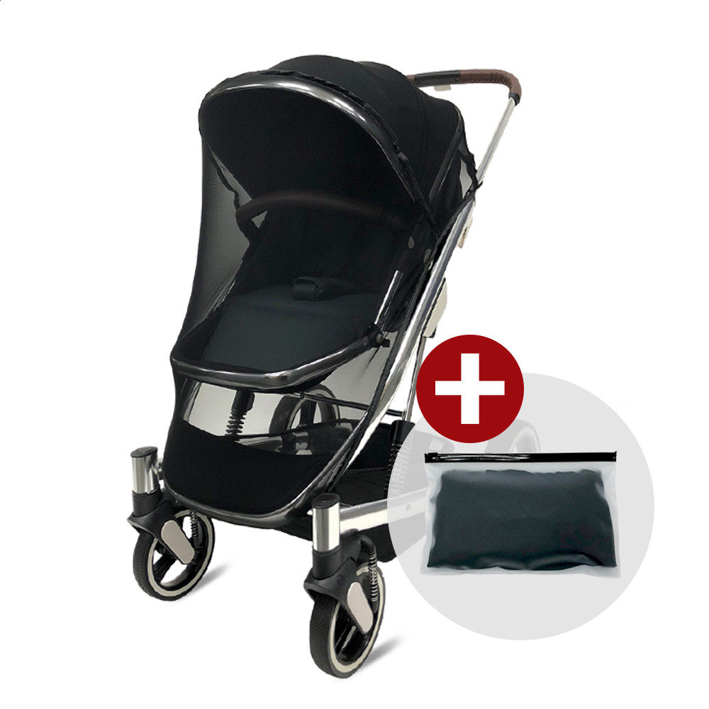 Black Infants Baby Girl Boy Stroller Pushchair Mosquito Insect Net Safety Mesh Buggy Crib Netting Cart Buggy Mosquito Net