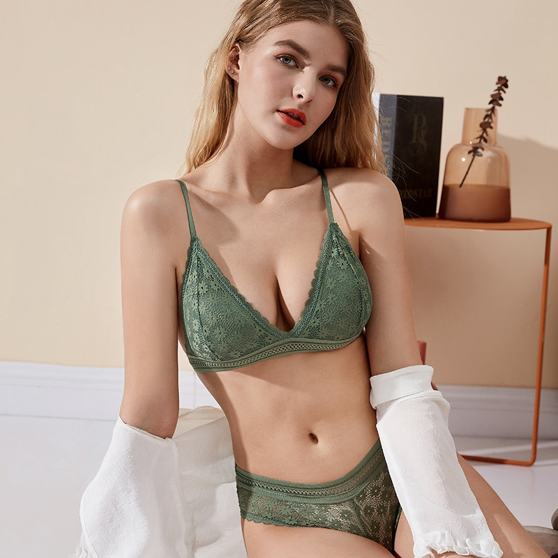 Lace Bra Sets   Seamless Underwear   Backless Vest Sexy Padded Bra   Ultrathin Bra & Brief Sets 2