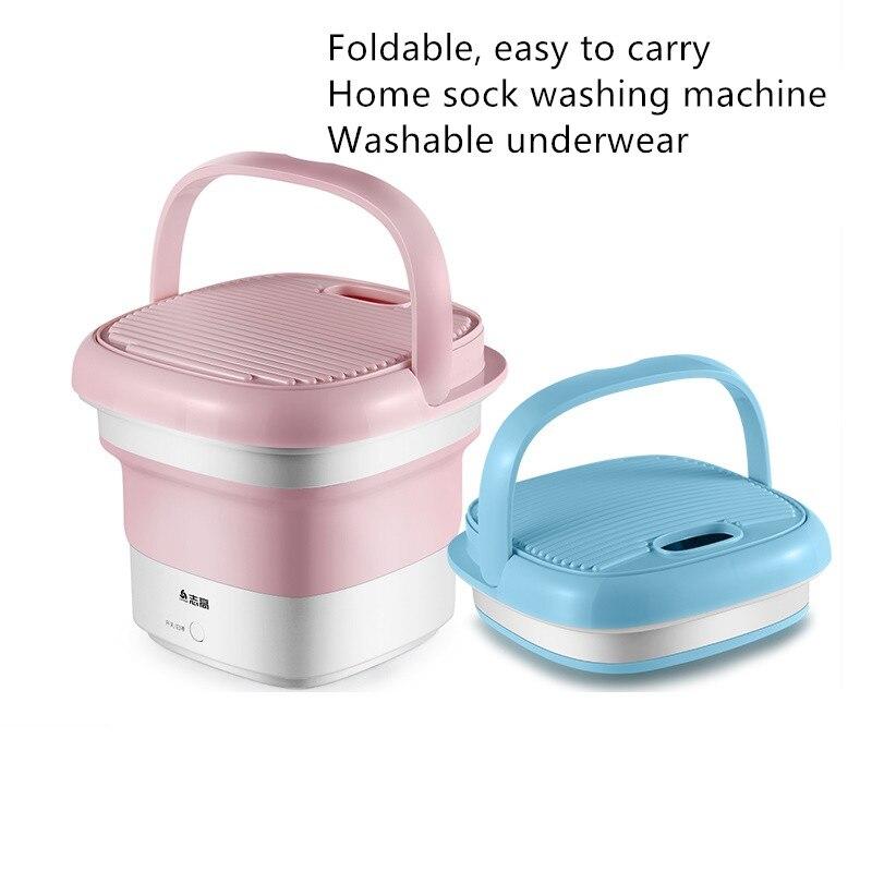 100-240V Portable Foldable Washing Machine Folding Semi-automatic Ultrasonic Clothes Fruit Dormitory Travel Sterilization