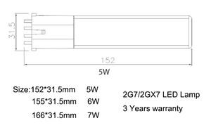 Image 4 - 5W 6W 7W LED ampoule horizontale GX23/G23 LED projecteur 180 degrés AC85 135/195 265V lumière LED de remplacement intérieur