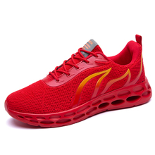 2019 New Arrival High Quality Men Running Shoes Outdoor Breathable Men Trianers Red Flame Sneakers Men Sport Shoes Free Shipping original new arrival authentic nike zoom winflo 5 mens running shoes sneakers breathable sport outdoor good quality aa7406 001