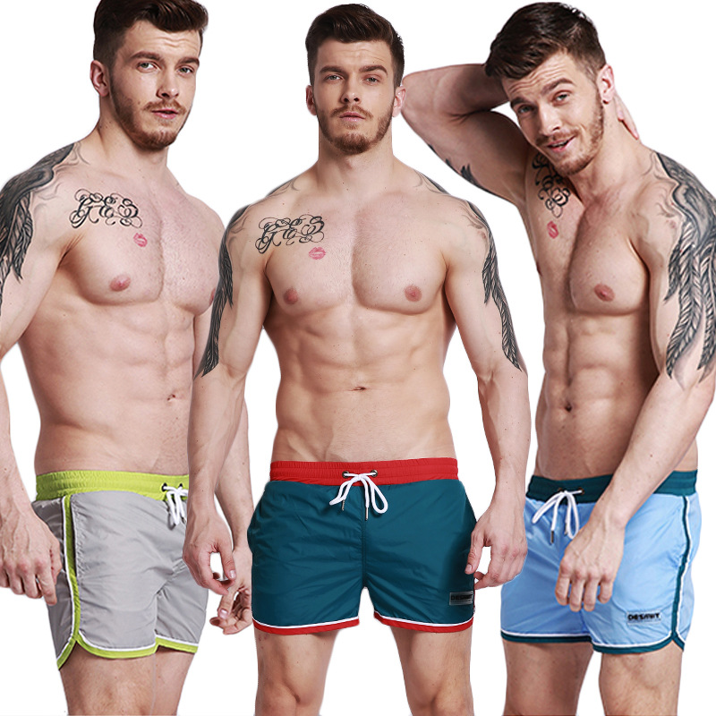 Desmiit G302 Men Boxer Beach Swimming Trunks Comfortable With Lining Short Beach Shorts Fitness Running