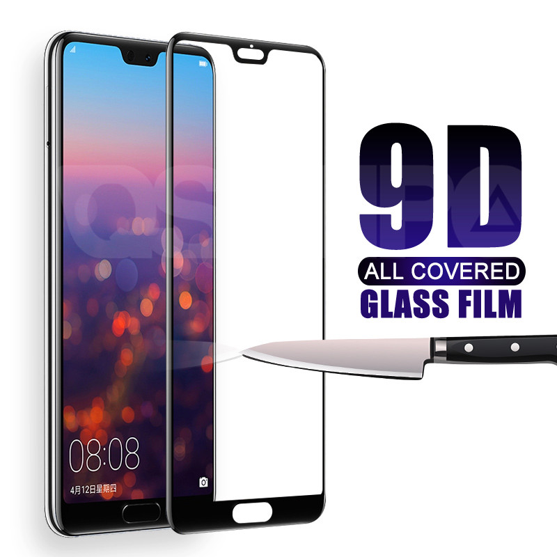 9D Full Cover Tempered Glass On For Huawei P20 Lite Pro P10 P9 Lite Plus P Smart Safety Screen Protector Protective Glass Film
