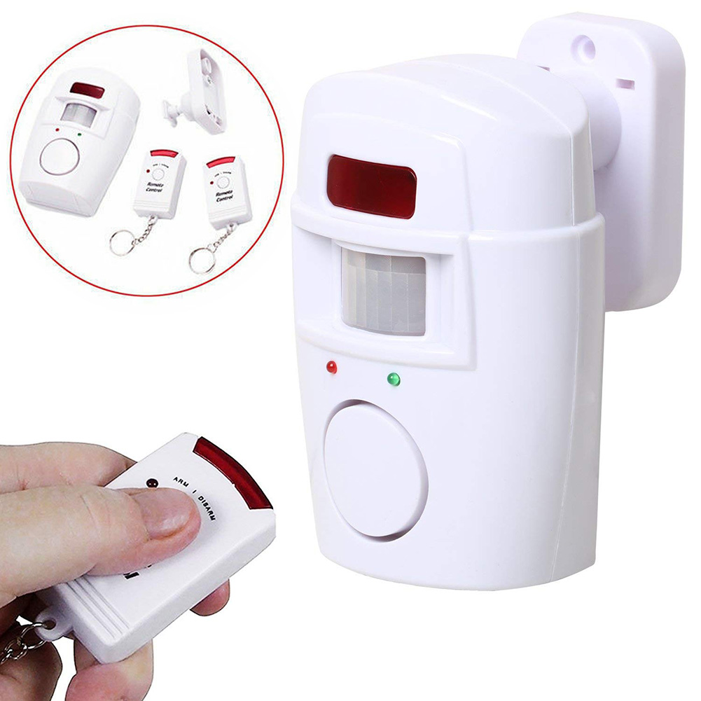 Wireless Motion Sensing Alarm Security Device With Remote Control For Garden Sheds Garage NC99