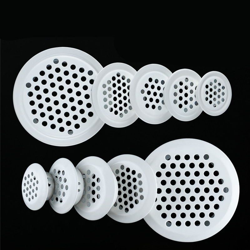 10pc/lot 30mm/35mm/40mm/ 43mm/65mm Stainless Steel Air Vent Cupboard Cabinet Decoration Respiradero Round Ventilation System