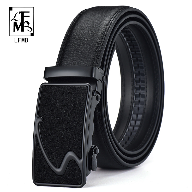 [FLMB]brand Men Belt Male Strap Male Metal Automatic Buckle Genuine Leather Strap Belts For Men Top Quality Luxury Busiiness