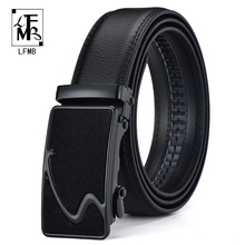 [FLMB]brand men belt male strap metal automatic buckle genuine leather belts for top quality luxury Busiiness
