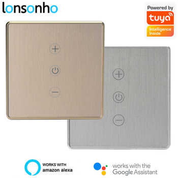 Lonsonho Smart WiFi Dimmer Switch EU 220V Tuya Smartlife Wireless Remote Touch Switch Metal Frame Works With Alexa Google Home - DISCOUNT ITEM  30 OFF Lights & Lighting