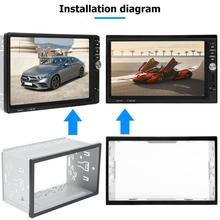 2 Din автомагнитола dvd-плеер Железный пластик ремонт фиксированный универсальный тип практичное крепление рамка Установка рамка панель отделка комплект Fascias