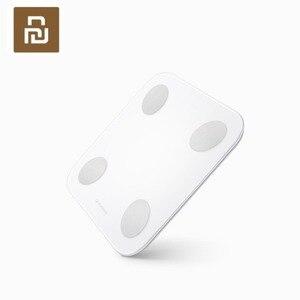 Image 2 - Youpin YUNMAI Mini 2 Balance intelligente graisse corporelle poids échelles anglais APP contrôle caché LED affichage Intelligent Balance corporelle