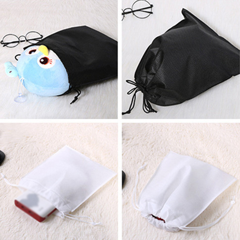 Portable Useful Shoes Bag Travel Storage Pouch Drawstring Dust Bags Non-woven Gift Protector Container Carry Sack