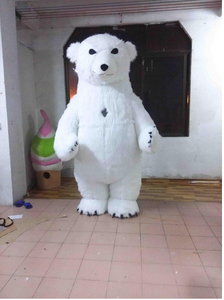 Cloth Costume Cosplay for Advertising 3M Tall Customize Adult Polar-Bear Hot Inflatable
