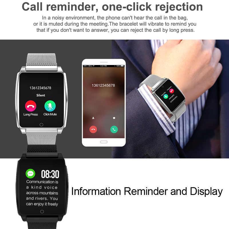 ساعة رقمية أندرويد IOS سوار قياس معدل ضربات القلب ضغط الدم جهاز تعقب للياقة البدنية ساعة توقيت العد التنازلي خطوة اللون مقاوم للماء الرياضة الفرقة