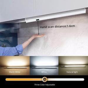 Image 2 - Hand Wave Control Kitchen Lights LED Bar Light Closet Wardrobe Bar LED Lamp 30/50cm Motion Sensor Hand Scan Sweep Kitchen Lights