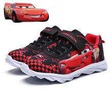 Автомобили Молния McQueen детская обувь для мальчиков спортивные гоночные машины, обувь осень зима весна девочек сетка Новинка