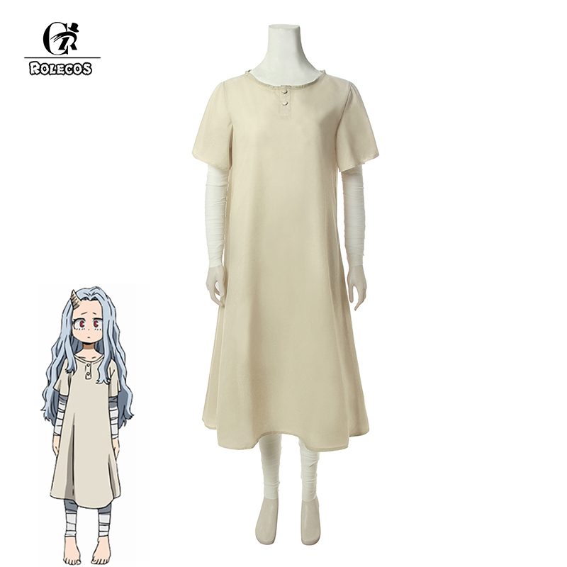 ROLECOS Anime My Hero Academia Eri Cosplay Costume Dress Boku No Hero Academia Cosplay Costume Women Summer Dress Daily Costume