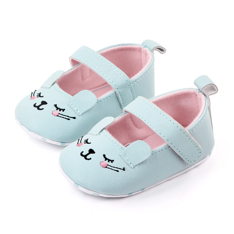 Fashion Baby Girl Shoes Toddler Infant Anti-slip Cute Cat Cotton Cloth First Walkers Shoes Kids Footwear Shoes 0-12M