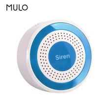 MULO-Sensor de alarma de luz estroboscópica de sirena inalámbrico, 433MHz, 85dB, compatible con sistema de alarma de seguridad PG103, PG107, PG105