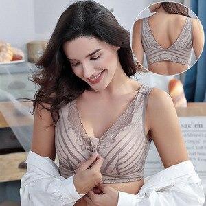 Image 3 - Funklouz乳房切除ブラジャーポケットブラジャーシリコーン人工乳房用90C乳がん女性人工おっぱいフロントジッパー