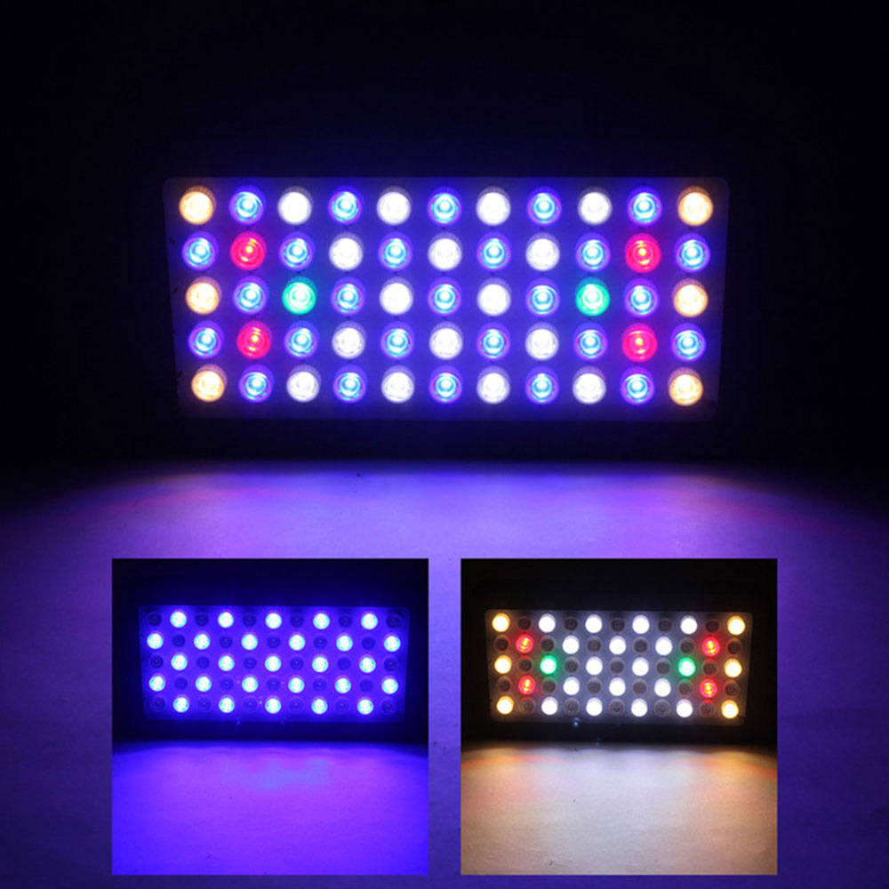 EU/US/UK Dimmable LED Aquarium Lighting Full Spectrum Marine 165W Fish Reef Tank Lights Coral SPS LPS - 2