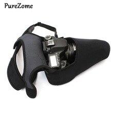 цена на Portable Neoprene Waterproof Soft Camera Bag triangle Shoulder Bag Protective Storage Bag For DSLR Camera Nikon D3300 D3200 For