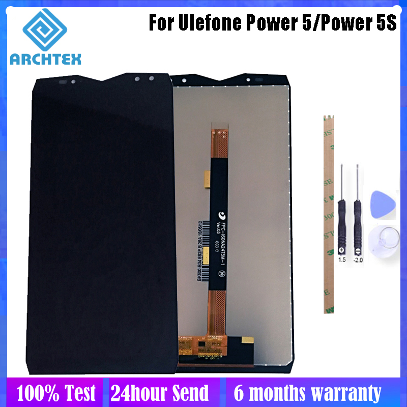 6.0 inch For Original <font><b>Ulefone</b></font> <font><b>Power</b></font> <font><b>5</b></font> 5S LCD Display + Touch <font><b>Screen</b></font> Digitizer Assembly Parts 2160*1080P 100% Tested + Tools image