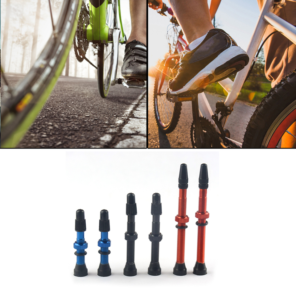 2pcs 48mm Alloy Stem Presta Valve Tool for Road MTB Bike Tubeless Tire