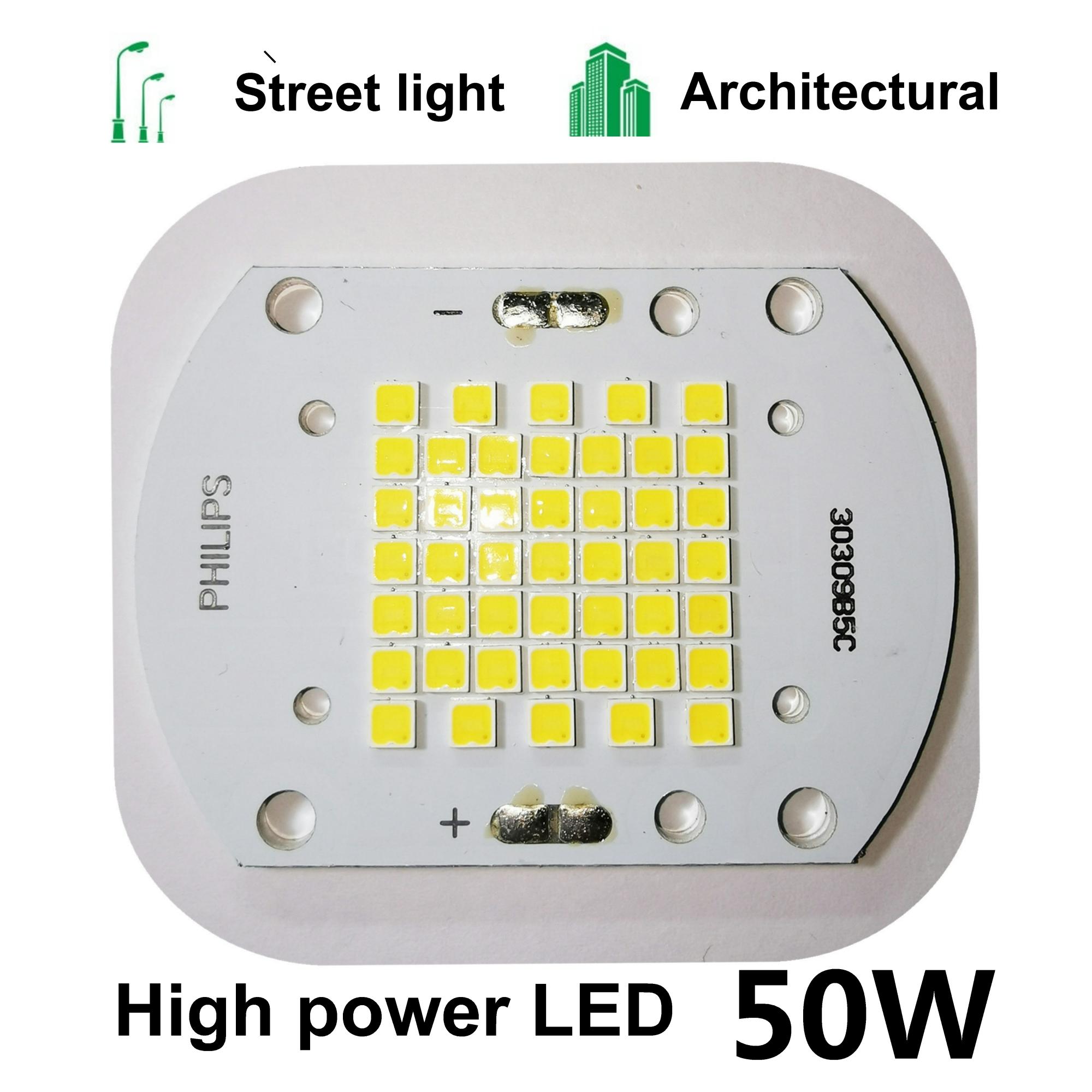 2ps 50W COB LED Chip Lamp Bulb Chips For Spotlight Floodlight Garden Square DC 30V 32V 34V 36V Integrated LED Light Beads