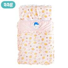 AAG Cotton Baby Sleeping Bag Stroller Envelope for Discharge Newborns Cocoon Maternity Hospital Kit Sleepsack