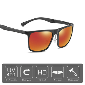 Image 3 - AOFLY BRAND DESIGN Aluminum magnesium Polarized Sunglasses Men 2020 Fashion Square Driving Fishing Mirror Sun glasses Male UV400
