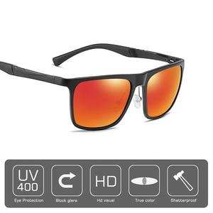 Image 3 - AOFLY ماركة تصميم الألومنيوم المغنيسيوم الاستقطاب النظارات الشمسية الرجال 2020 موضة ساحة القيادة الصيد مرآة نظارات شمسية الذكور UV400