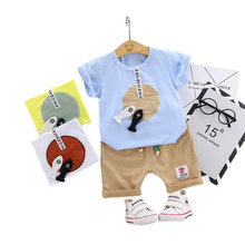 Cute 3-36M Baby Boy Set Clothing for Newborn Baby Boy Infant Fashion Outerwear Clothes Suit T-shirt+Pant Suit Baby Boy Cloth