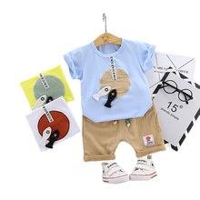 Cute 3-36M Baby Boy Set Clothing for Newborn Infant Fashion Outerwear Clothes Suit T-shirt+Pant Cloth