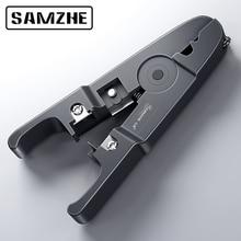 Décapant de câble doutil de Compression de décapant de fil de SAMZHE, câble rond, coupeur et outil plat de dénudage de câble