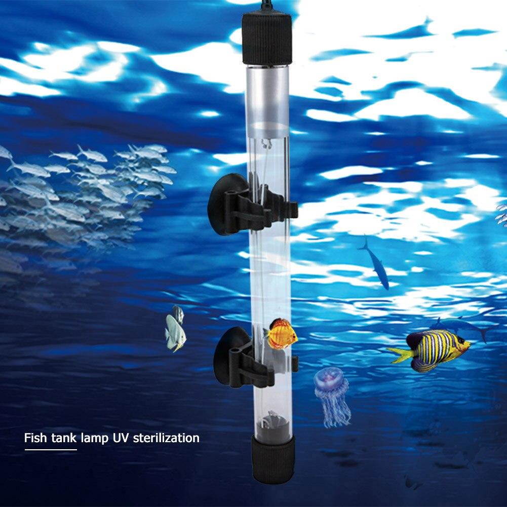 Aquarium UVC Lamp Lights Sterilizer UV Lamp Aquarium Lighting Fish Tank Bactericide UV Disinfection Water Treatment Purifier