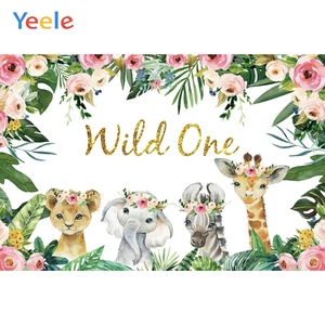 Image 5 - Photo Backdrops Safari Animals Tropical Baby Shower Party Poster Photography Backgrounds Vinyl Photocall For Photo Baby Studio