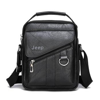 Jeep buluo Δερμάτινη ανδρική τσάντα