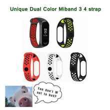 Sport Mi Band 3 4 Strap Dual Color Wrist for Xiaomi mi band sport Silicone Bracelet Smart Watch