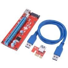 1 шт. Новейшие Ver007S Usb 3,0 PCEI64P-N03 007S Express 1X 4X 8X 16X удлинитель переходник адаптер карта Sata 15Pin к 6 Pin Power кабель